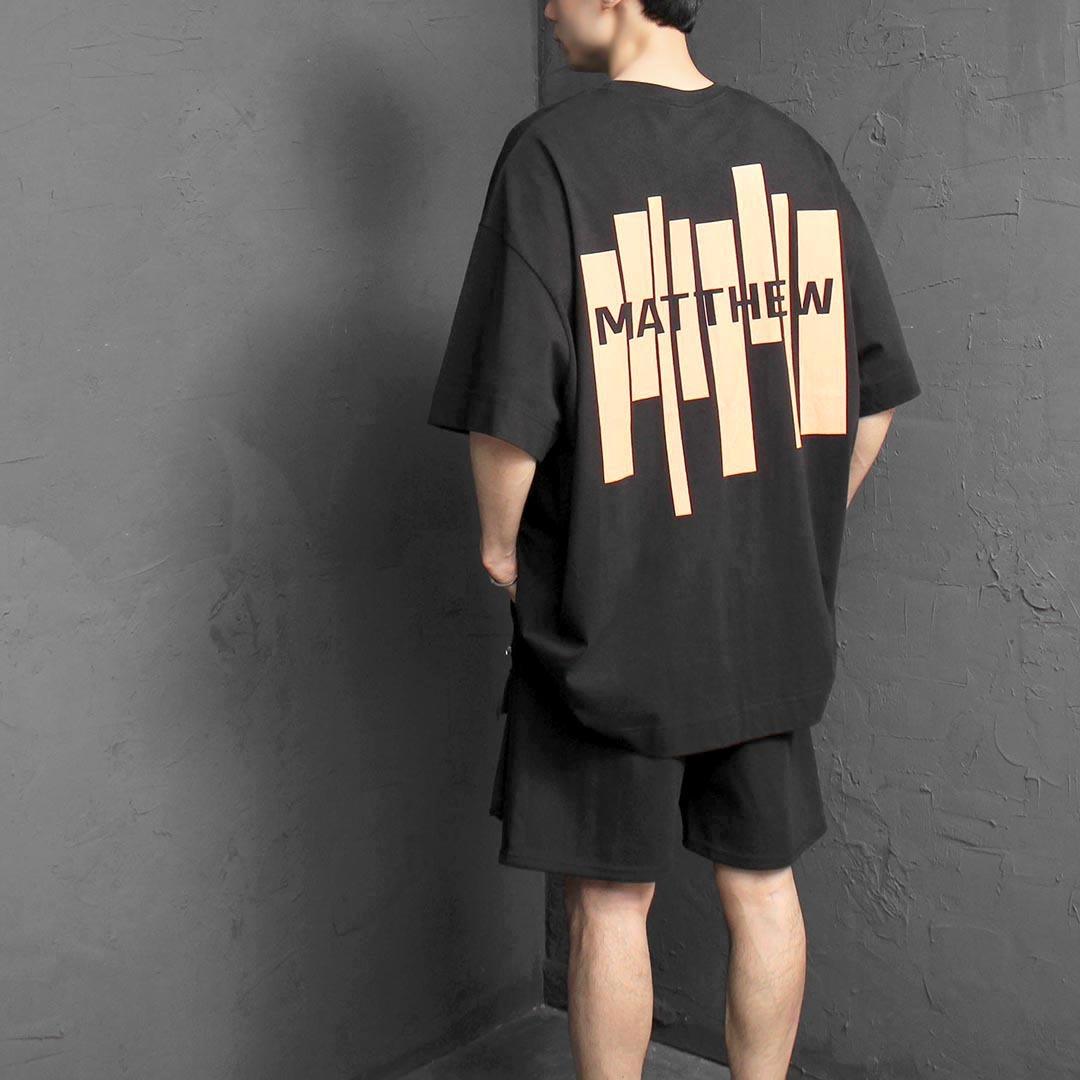 Oversized Barcode Printing Short Sleeve Tee 2397