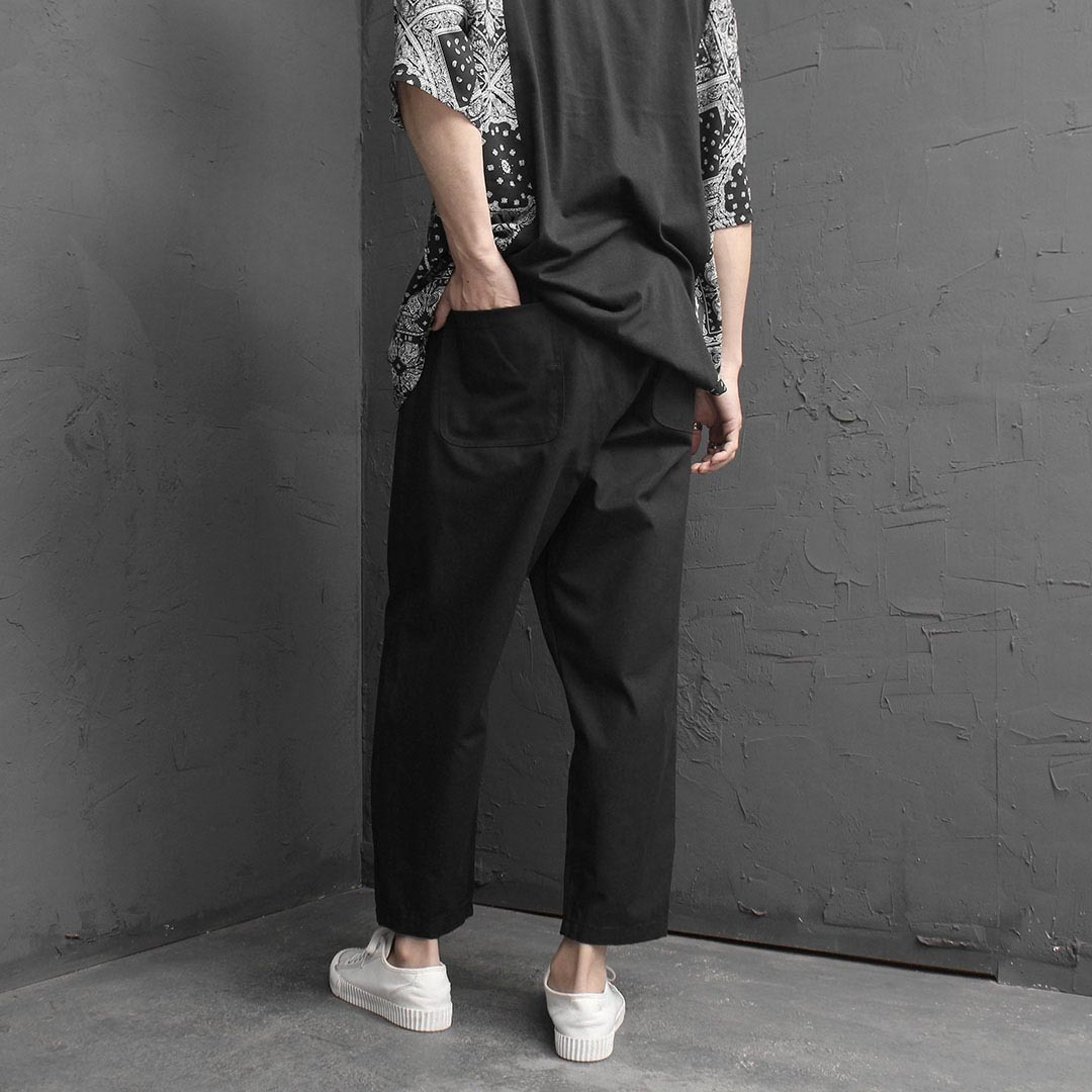 Loose Fit Wide Elastic Waistband Baggy Pants 2006
