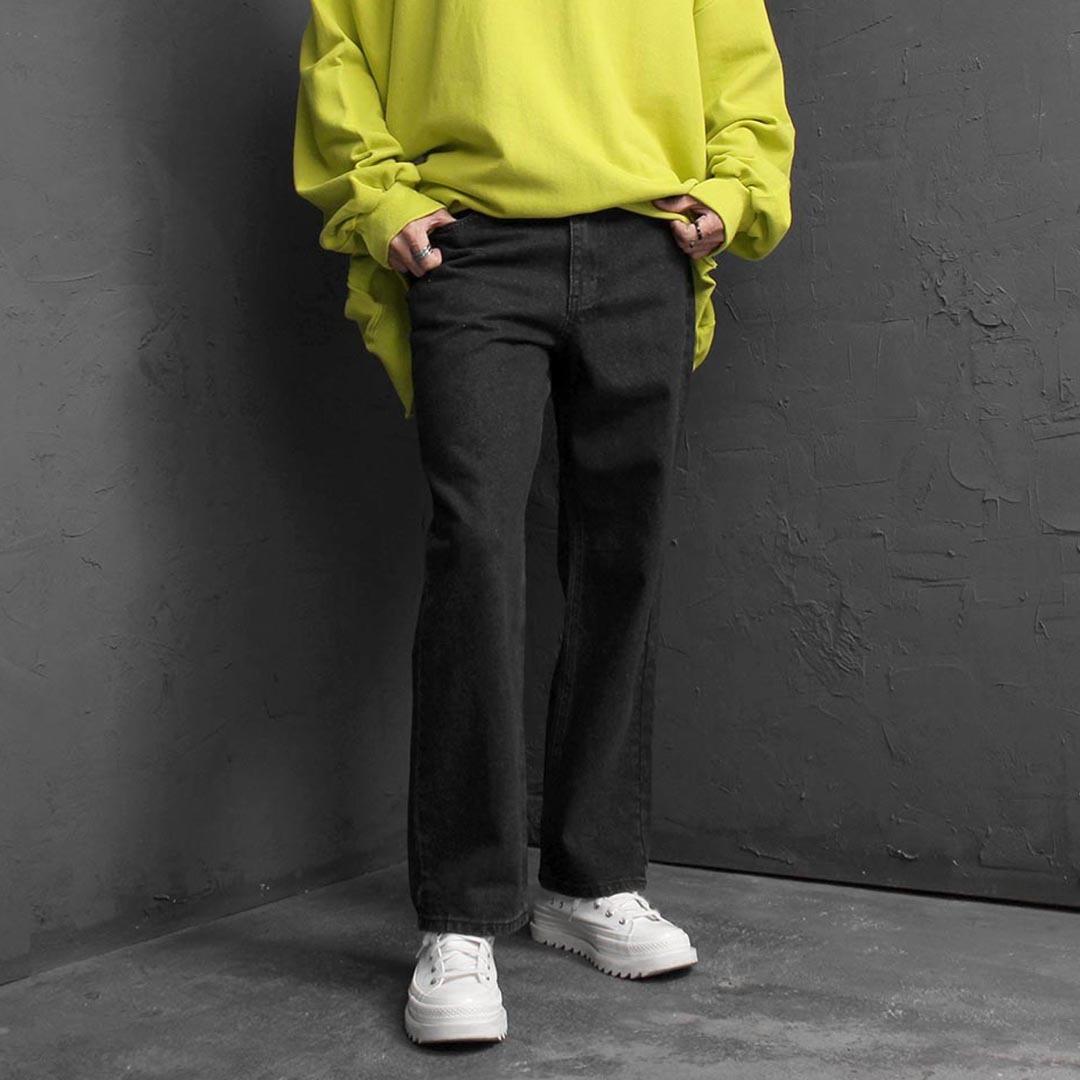 Basic Wide Denim Pants 2542