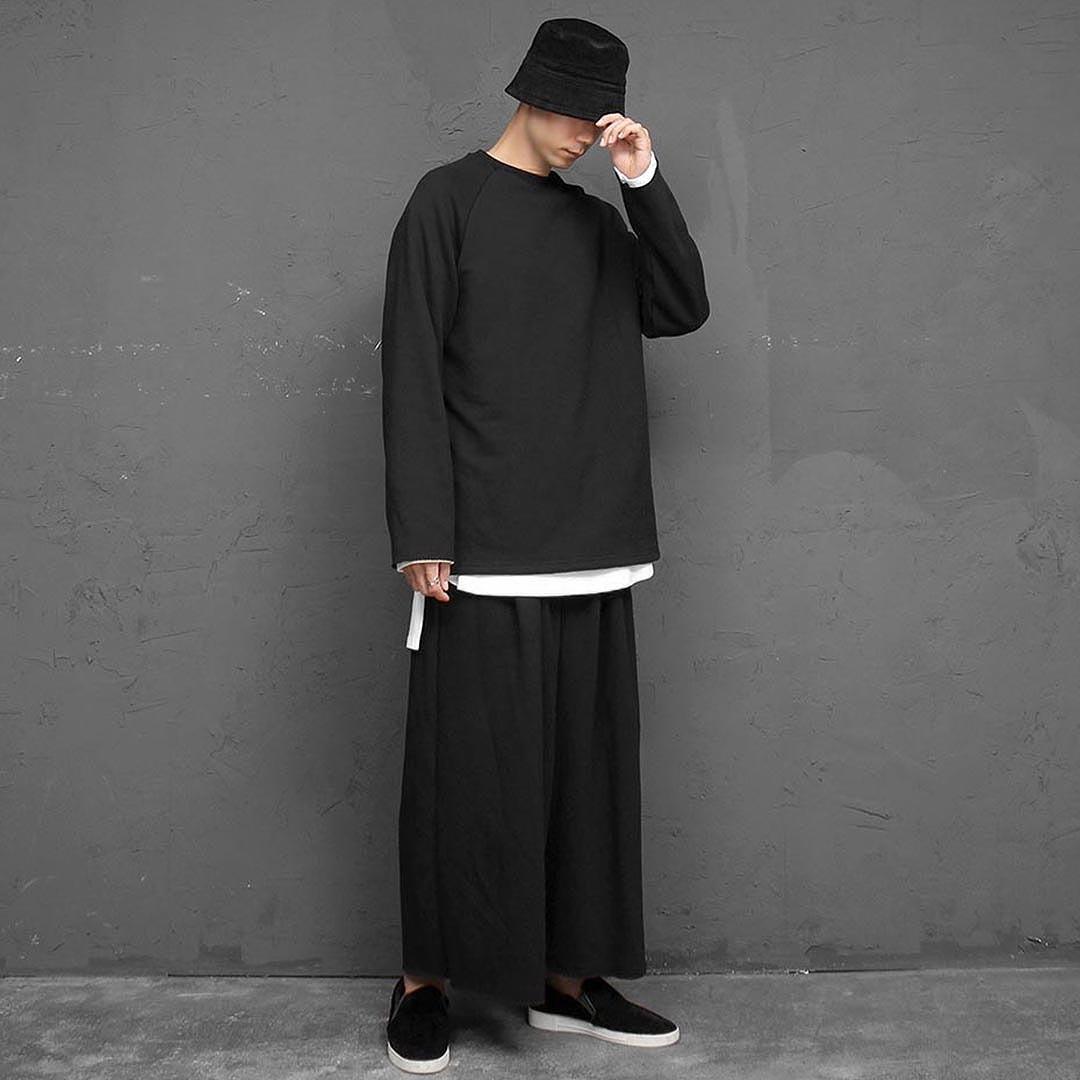 Big Oversized Fit Wide Pants Sweatshirt Set 2583