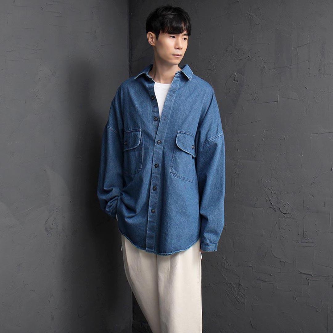 Big Over Sized Denim Shirt 2573