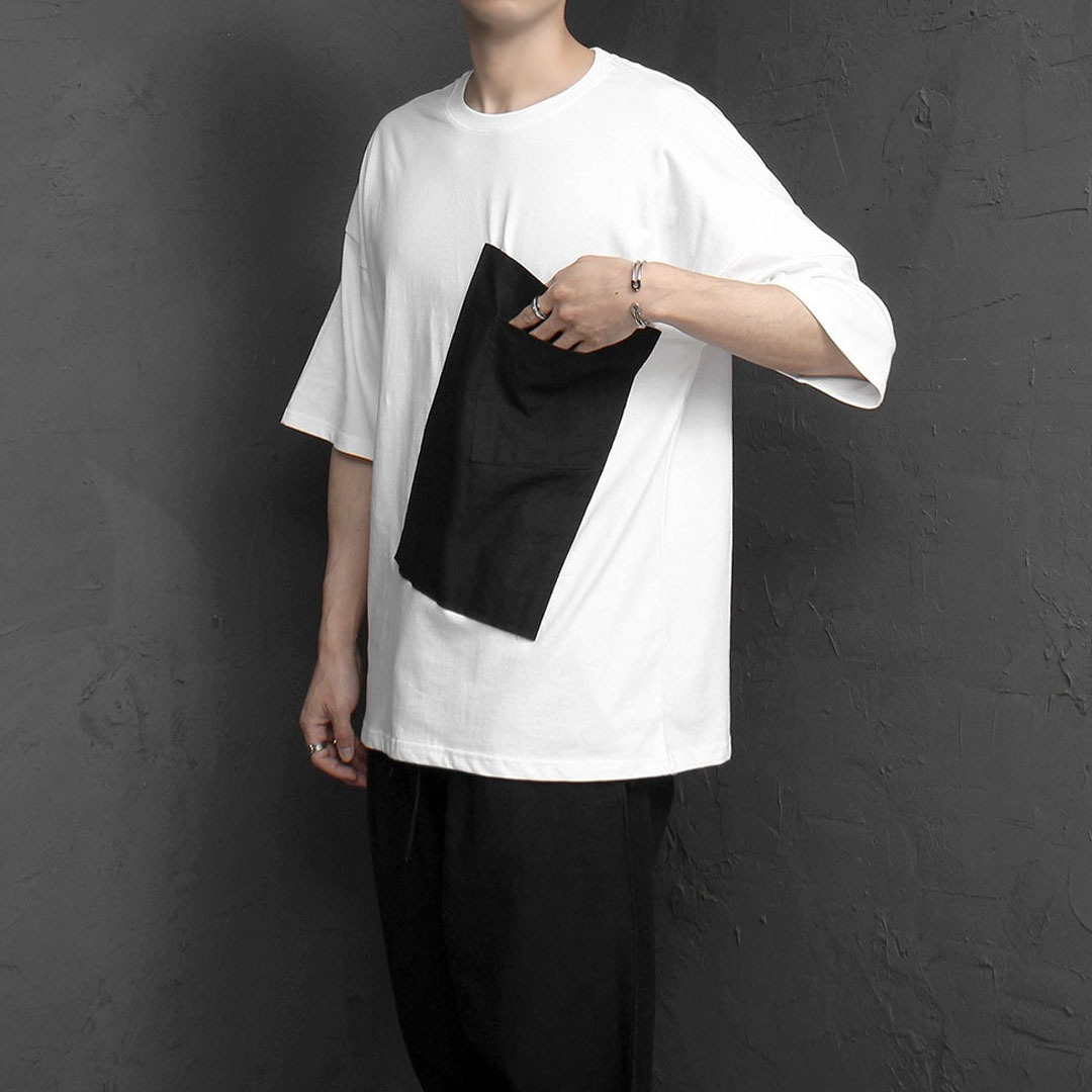 린넨 더블 포켓 티셔츠 2140