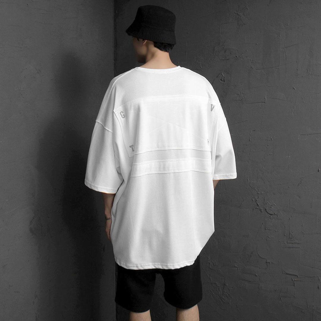 오버핏 사각패치 티셔츠 2157
