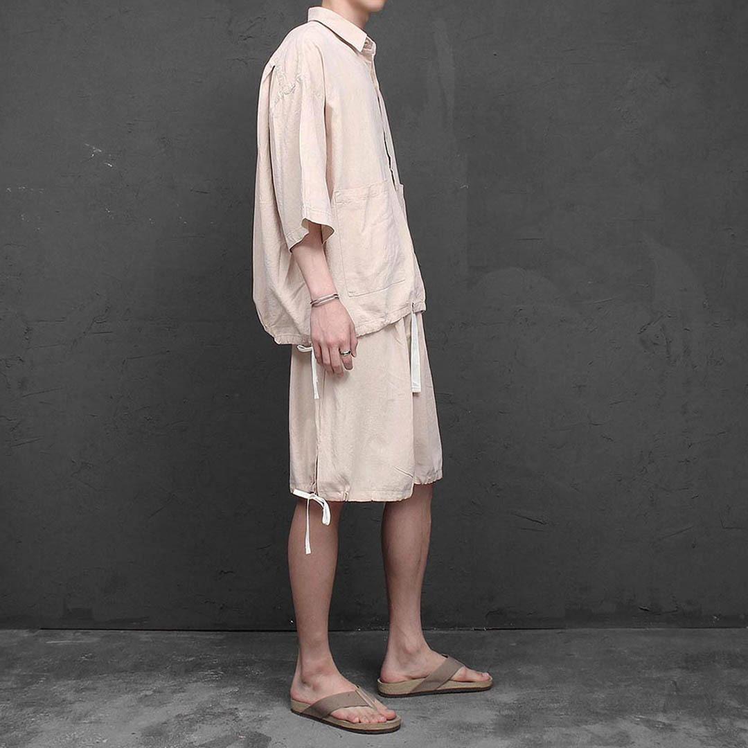 린넨 셔츠 반바지 세트 1272