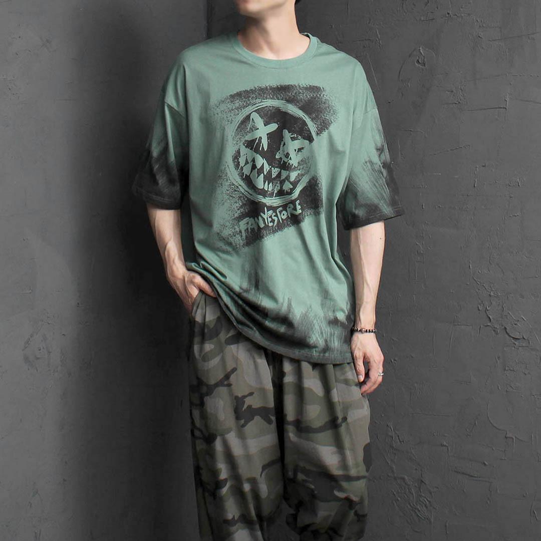 루즈핏 할로윈 스마일 티셔츠 2312