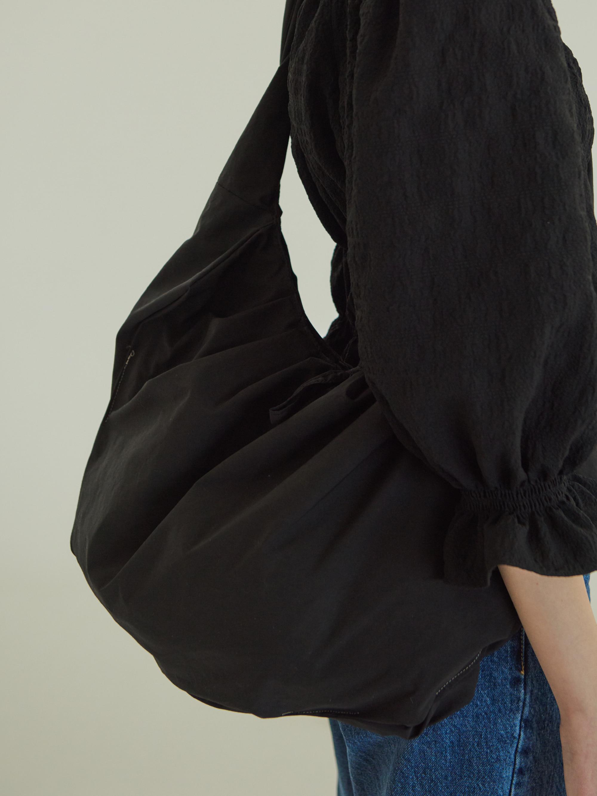 SHIRRING BIG ECO BAG (BLACK)