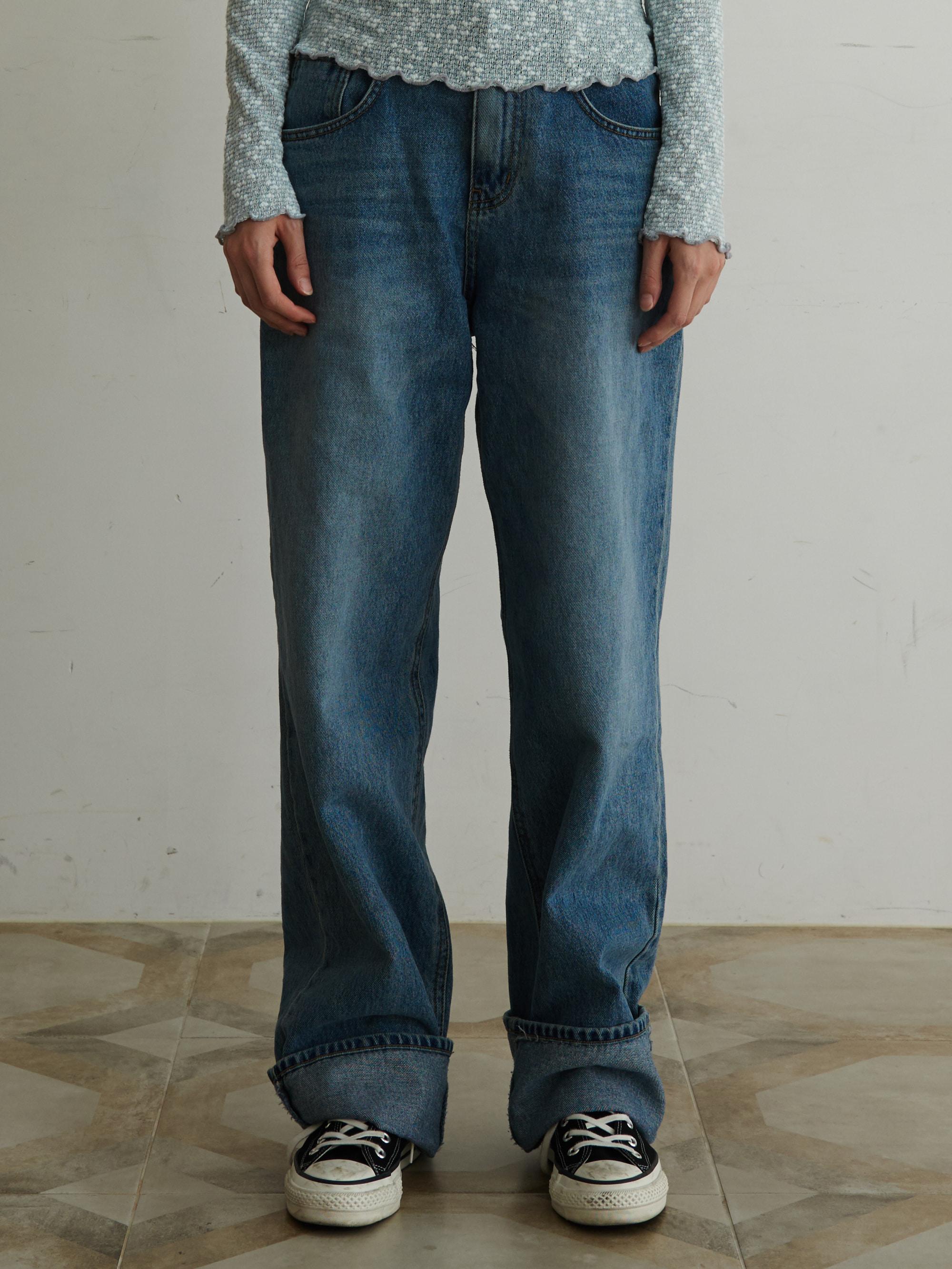 WIDE LEG JEANS (BLUE)