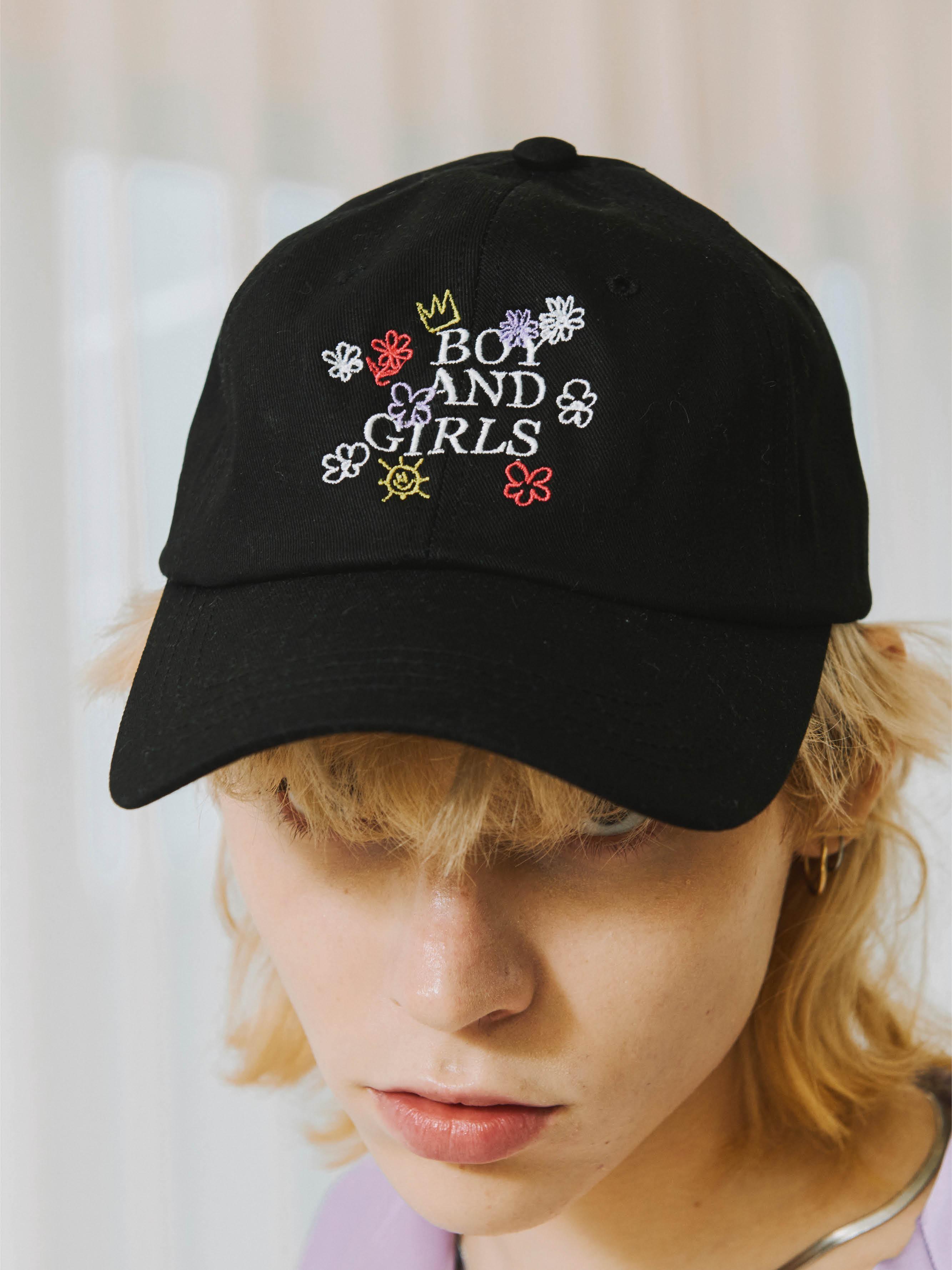 [Ship date: 9/17] BOY AND GIRLS BALL CAP (BLACK)