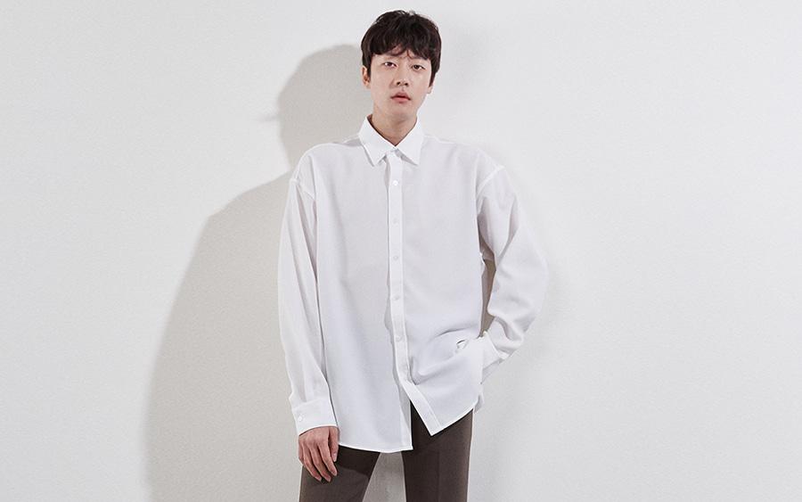 피넛 오버핏 셔츠