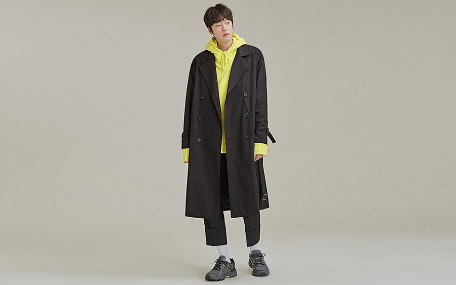 Double-Breasted Belt Coat