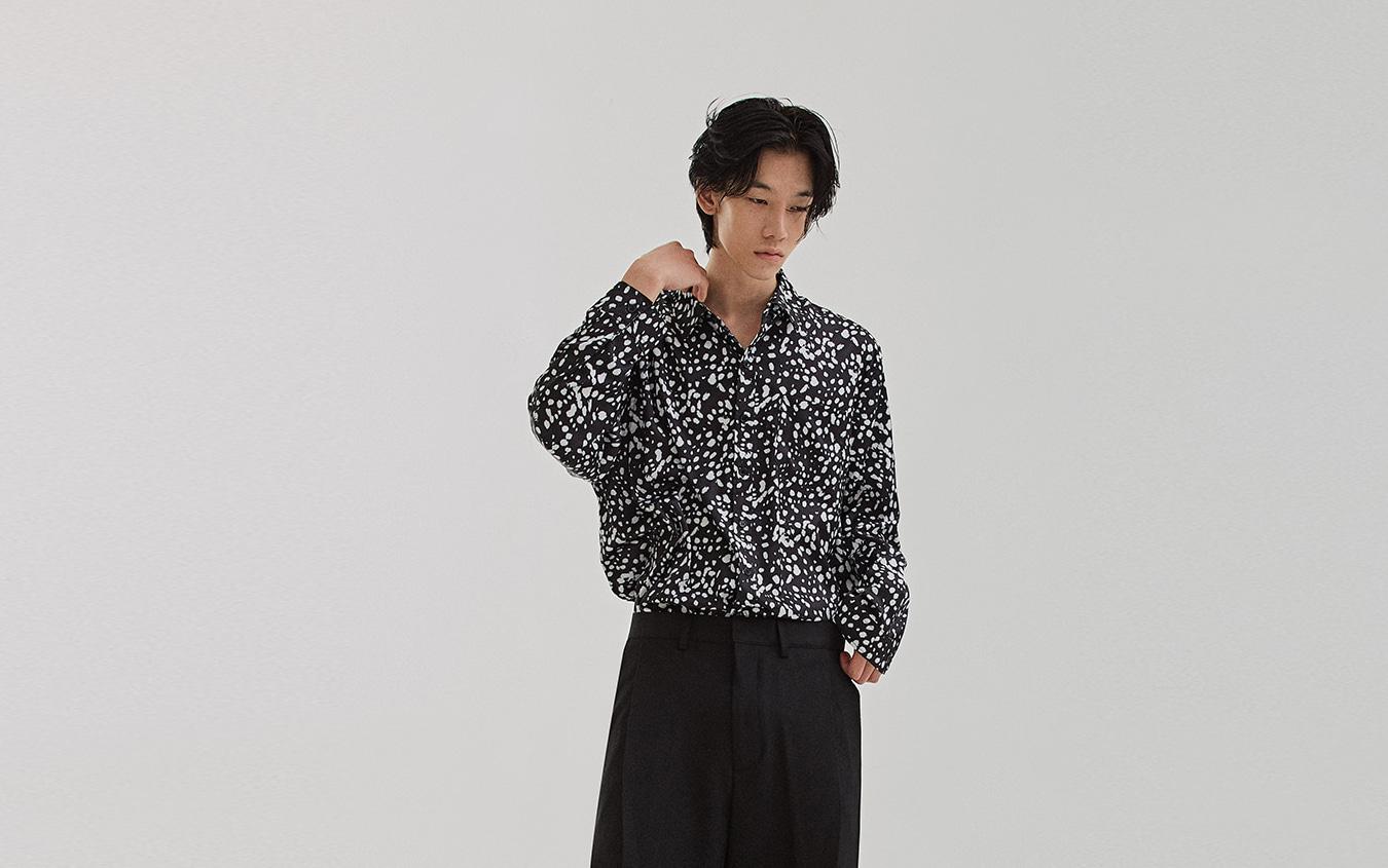 ロングスリーブオーバーサイズシャツ