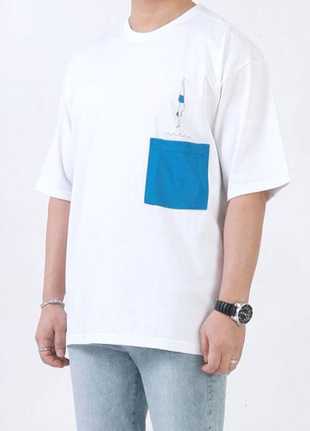 [더오피셜위크앤드] 다이빙 포켓 반팔티셔츠