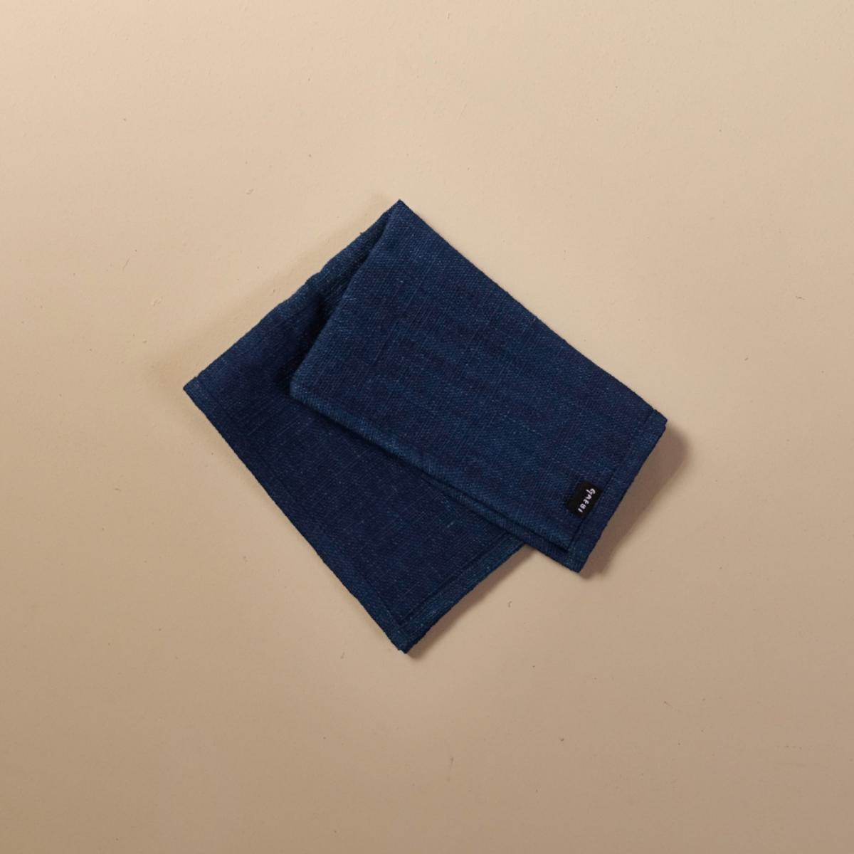 개비 Hand-woven Placemat_Indigo Navy