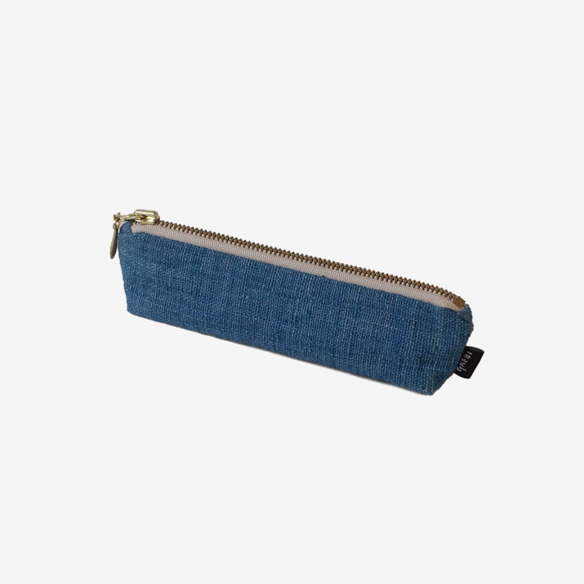 개비 Hand-woven Pencil Case_Indigo Blue