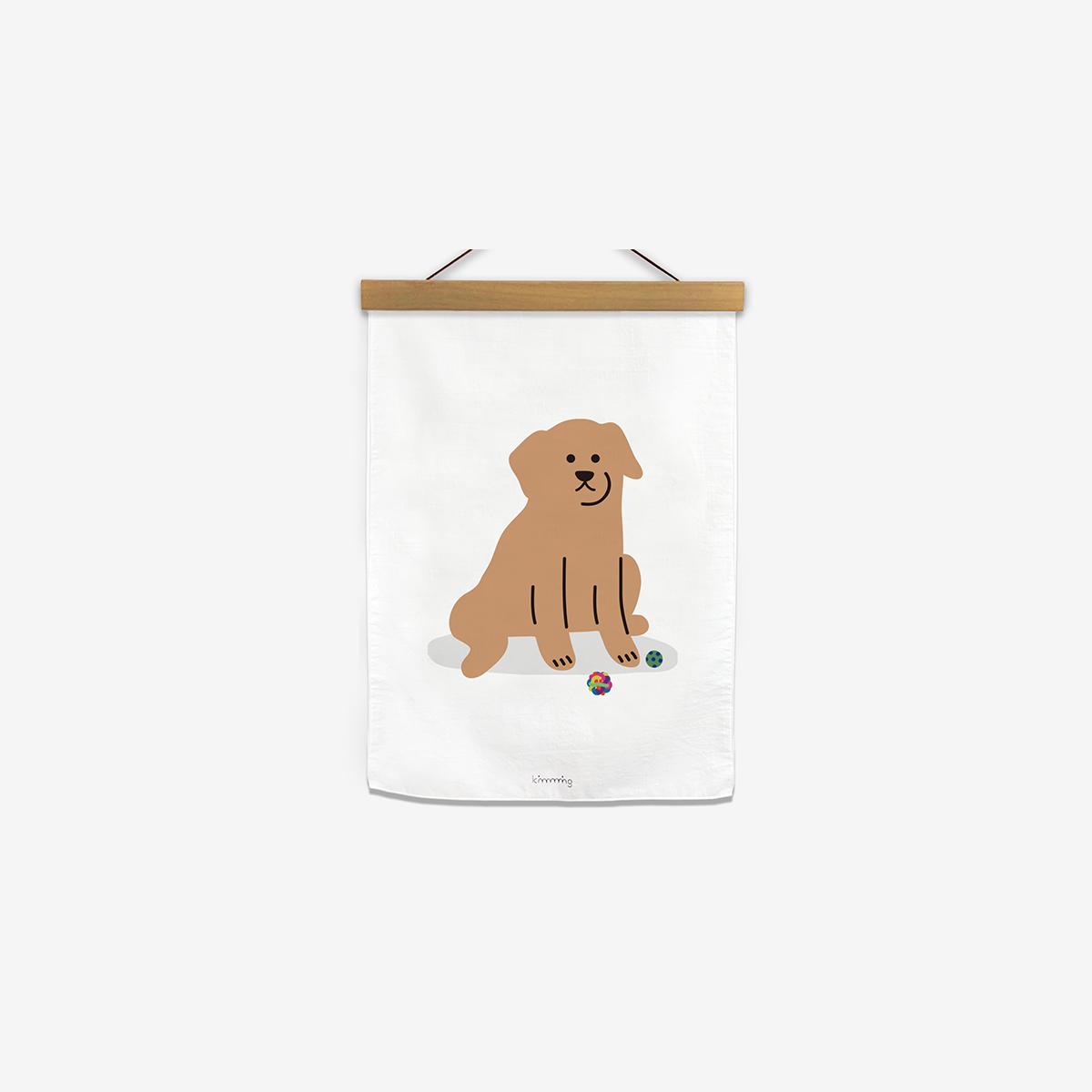[킴밍스튜디오] LAZY DAY fabric poster