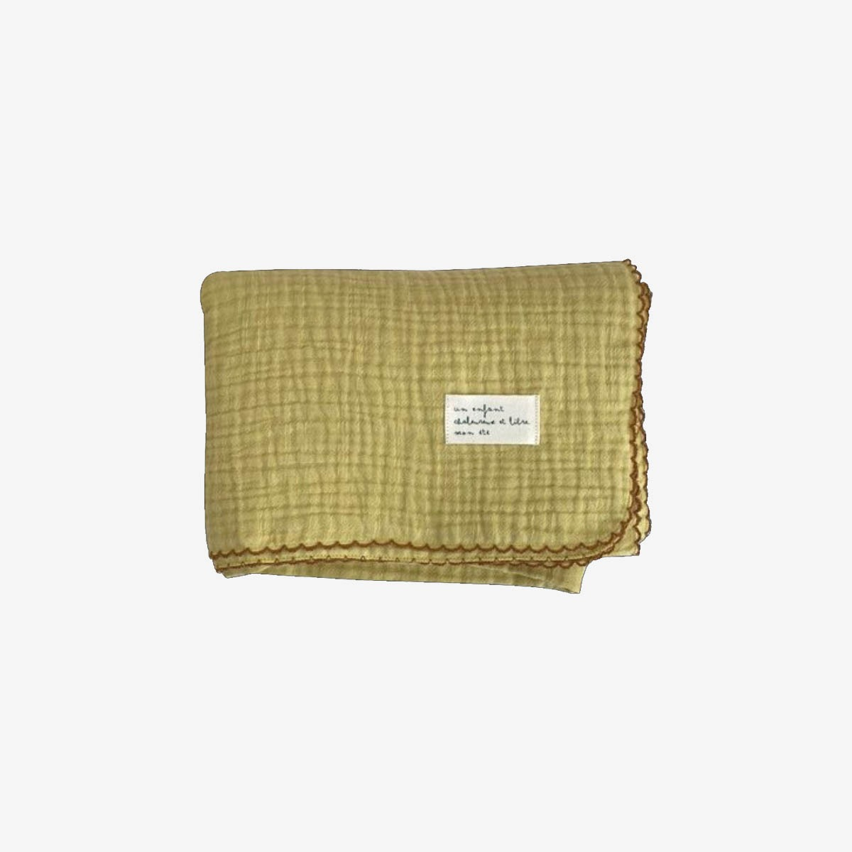 몬에떼 Mignon Blanket - lime yellow