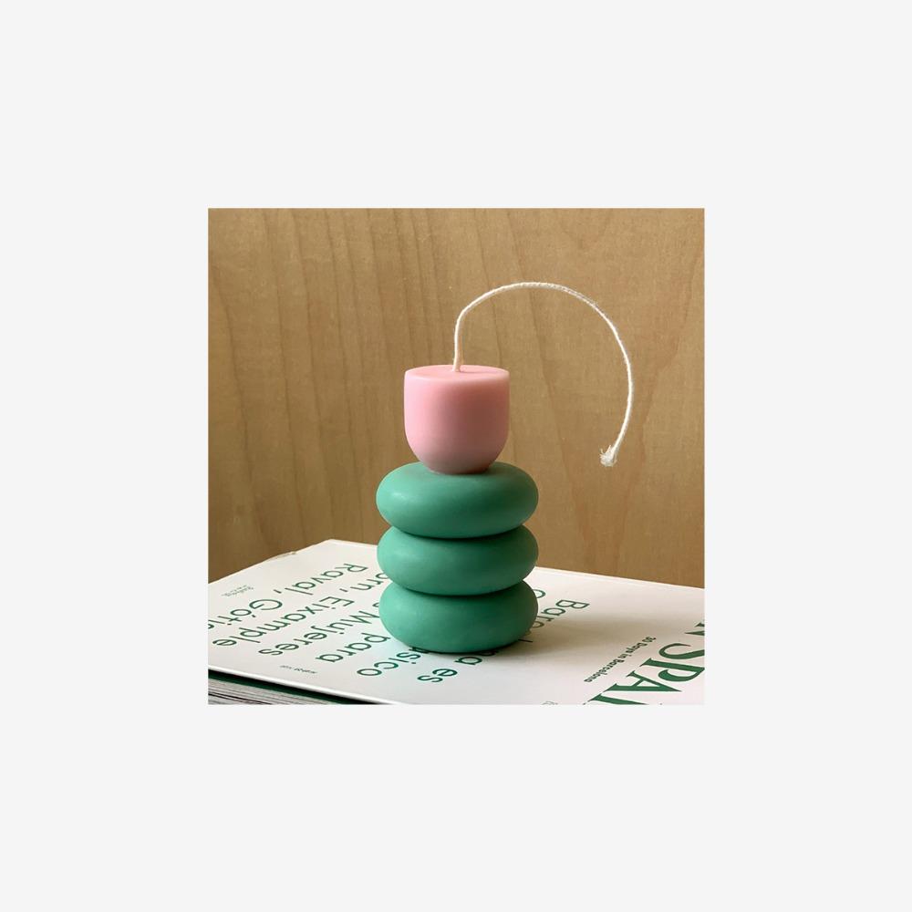 튤립 캔들 3단 (Blush Pink, Tulip Candle)