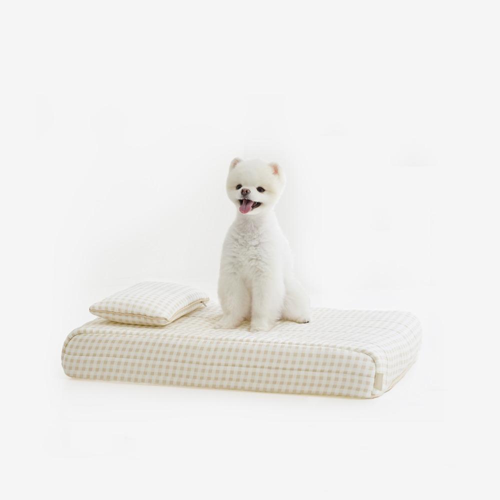 무아유  체크인견 강아지침대 3colors