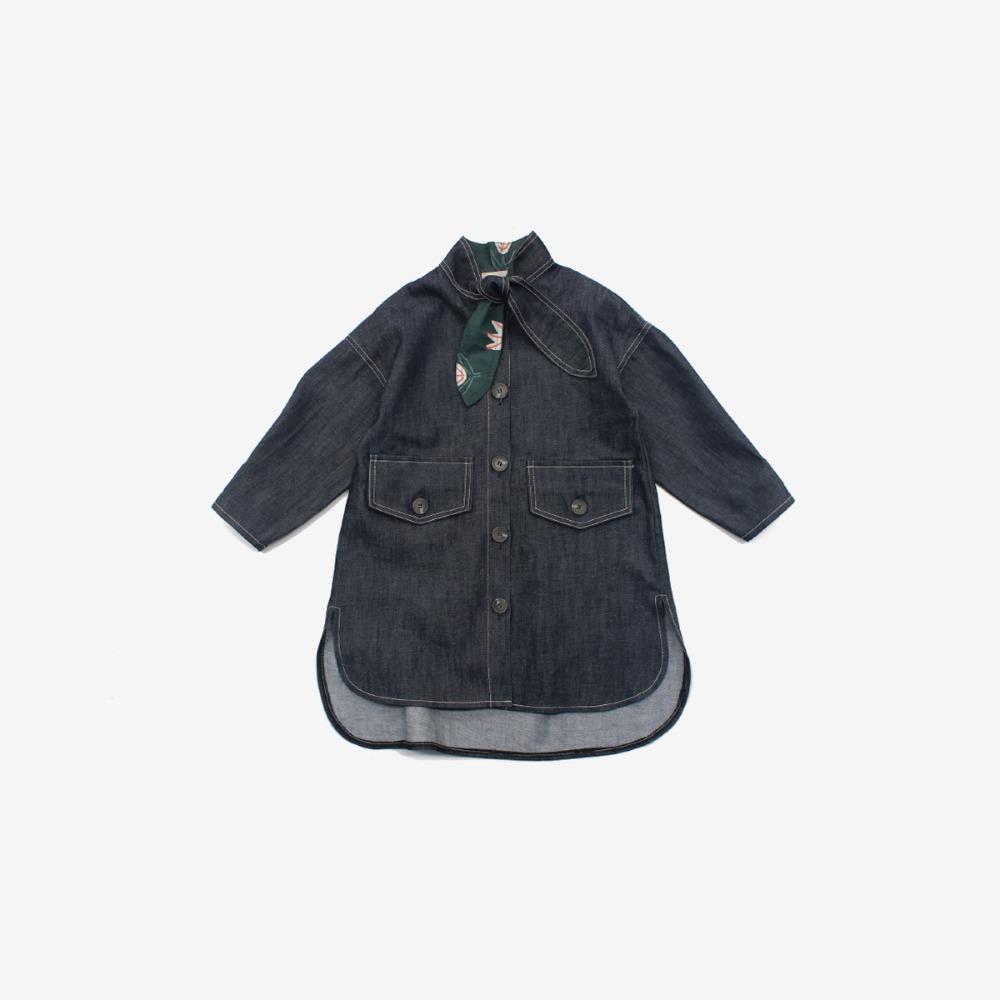 밤블루 Denim Shirt Jacket
