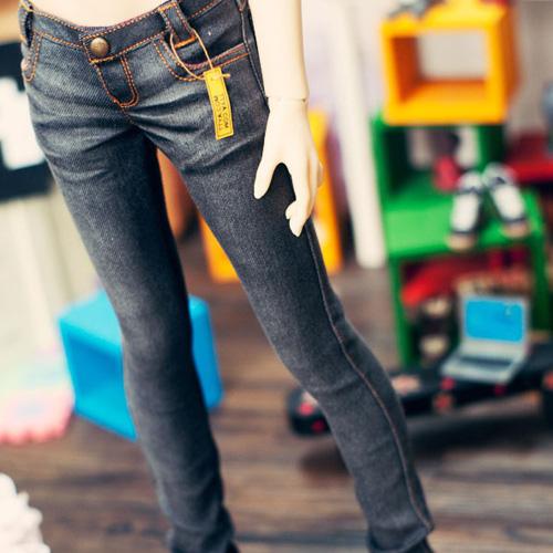 SD13 Girl Real Skinny Washing  Jeans - Black
