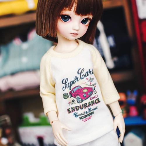Bunny Super Cars T shirt - Yellow