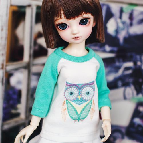 Bunny Owl T shirt - Mint