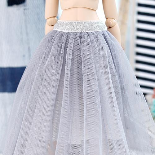 MSD & MDD long sha skirt - Gray