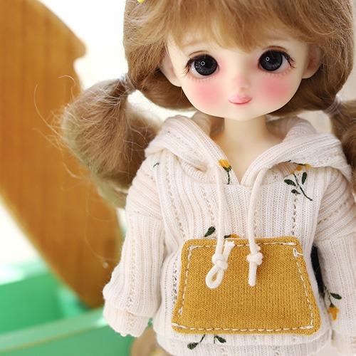 16CM S.Flower Hooded -Cream