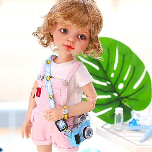 Paola Reina Pastel Cotton Short Overalls - Pink