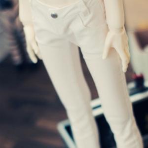 SD13 Boy Color Skinny Pants - White