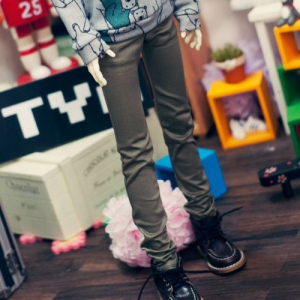 SD13 Boy Color Skinny Pants - Khaki