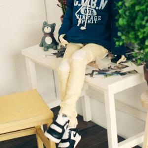 MSD Neat Skinny Pants - Yellow