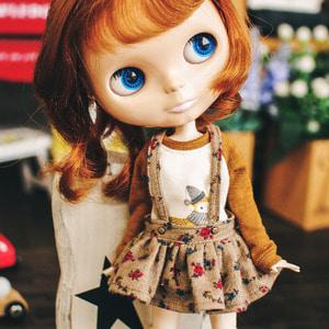 Blythe Flower Overall Skirts - Brown