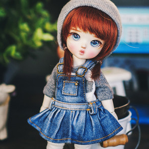 Washing Overall Skirts - Blue