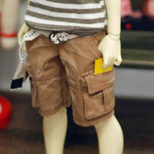 MSD Washing Cargo Short Pants - Beige