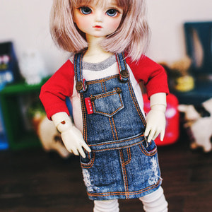USD New Washing Overall Skirt - Blue