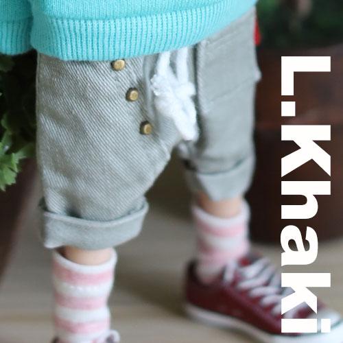 Blythe Ston Washing Button Baggy - L.Khaki