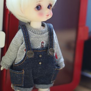 Baggy Jeans Overall - Blue