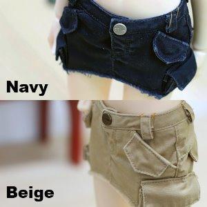 MSD & MDD Vintage Cargo Skirt - Navy, Beige