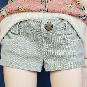 MSD & MDD Stone Washing Hot Pants - L.Khaki