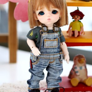 Washing Overall Jeans - Blue