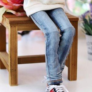 MSD & MDD  Washing Basic Slim Jeans - Blue