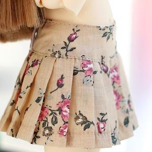 USD Flower pleated skirt - Beige