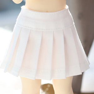 USD Basic Pleated Skirt - Ivory