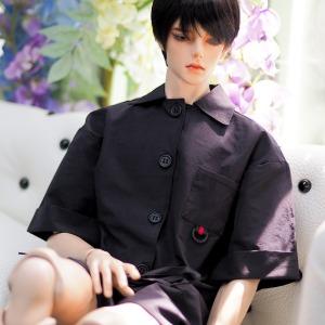 [ID75]Short jumpsuit(Black)