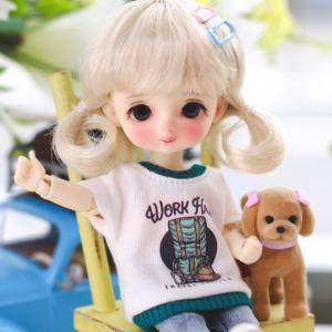16cm Work Hard T-shirt - D.green