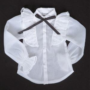 [SDG]Chiffon Frilly blouse(White)