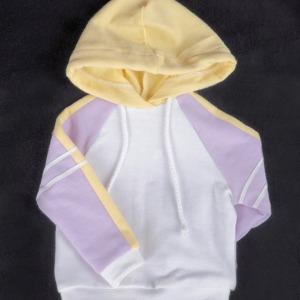 [SDG]Pastel colouring hood T-shirt(Purple yellow)