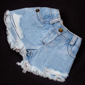(Pre-Order) [SDG]Wide washing hot pants(Ice jean)