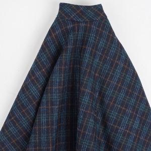 [SDG]Check long skirt(Navy)